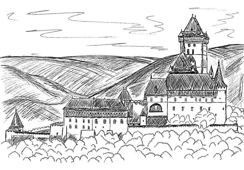 Carlstein ilustração do vetor