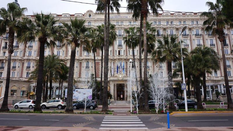 Carlton continental inter en Cannes, riviera francesa imagenes de archivo