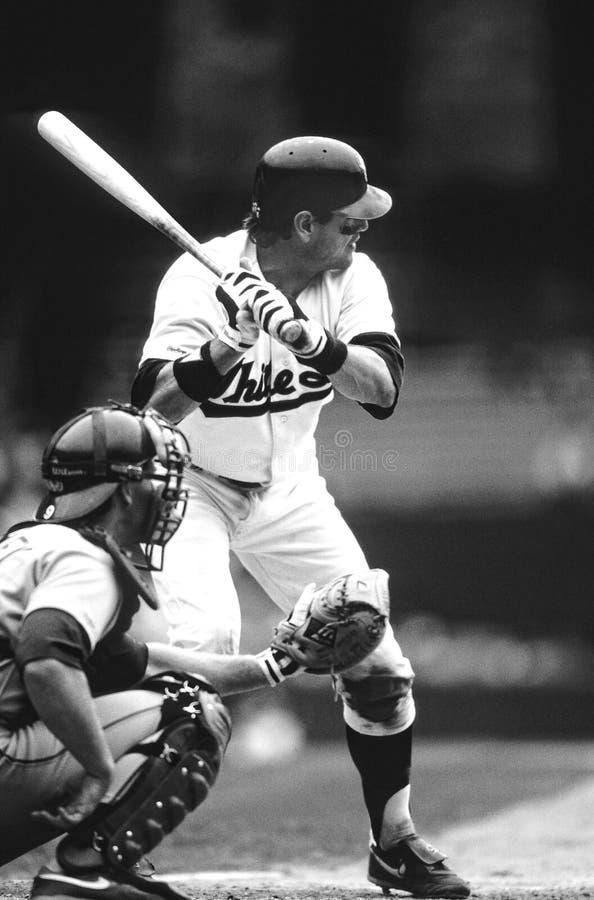 Carlton Fisk των Chicago White Sox στοκ φωτογραφίες με δικαίωμα ελεύθερης χρήσης