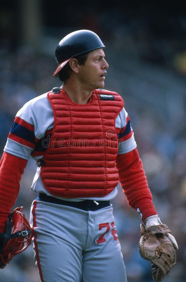 Carlton Fisk των Chicago White Sox στοκ φωτογραφία με δικαίωμα ελεύθερης χρήσης