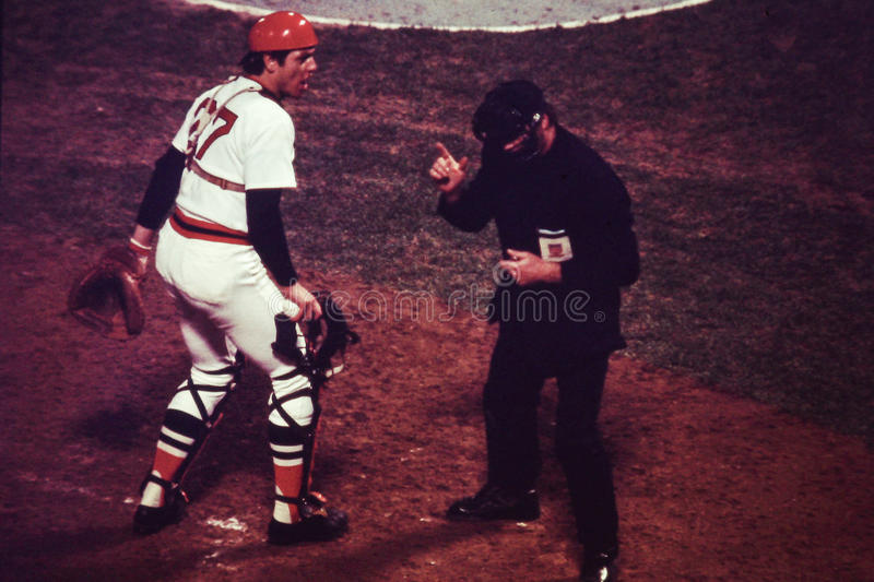 Carlton Fisk, Boston Red Sox στοκ εικόνα