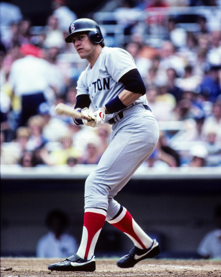 Carlton Fisk Boston Red Sox arkivbild