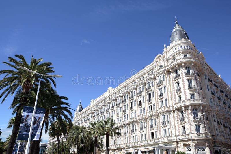 Carlton International Hotel, Cannes Francia fotos de archivo libres de regalías