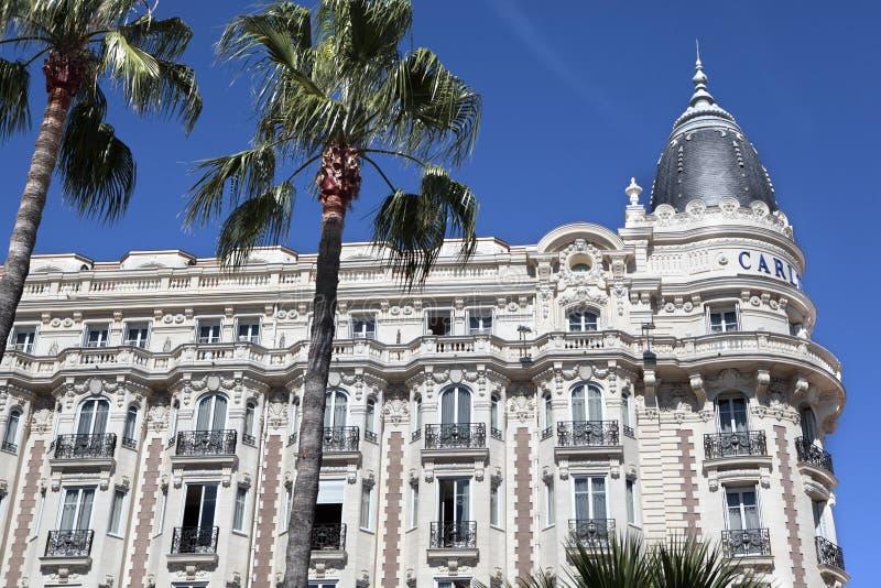 Carlton International Hotel, Cannes, Francia foto de archivo