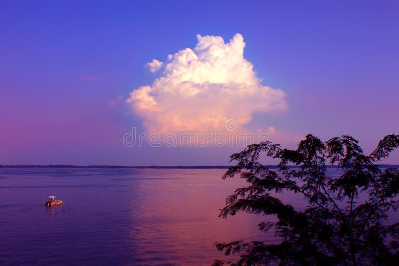 Carlyle湖在伊利诺伊 库存照片