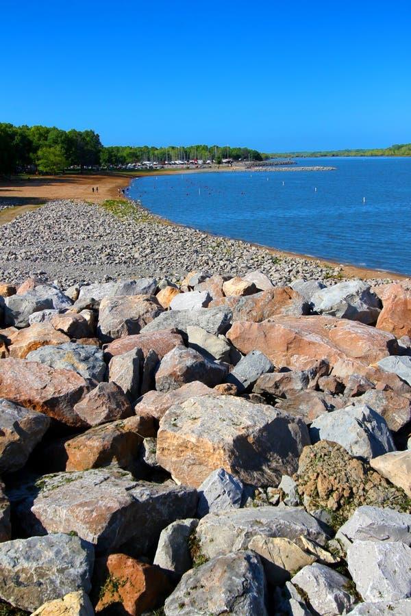 Carlyle Lake Beach Illinois lizenzfreie stockfotos