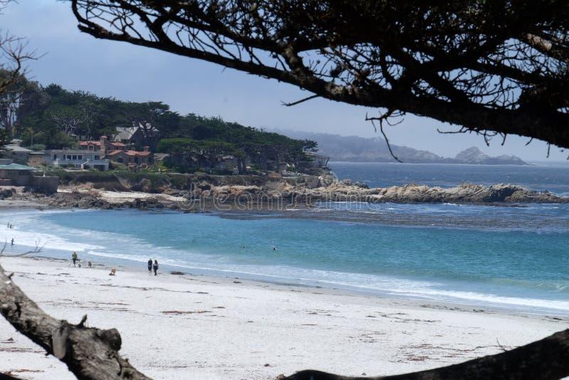 Carmel Beach California Förenta staterna royaltyfria foton