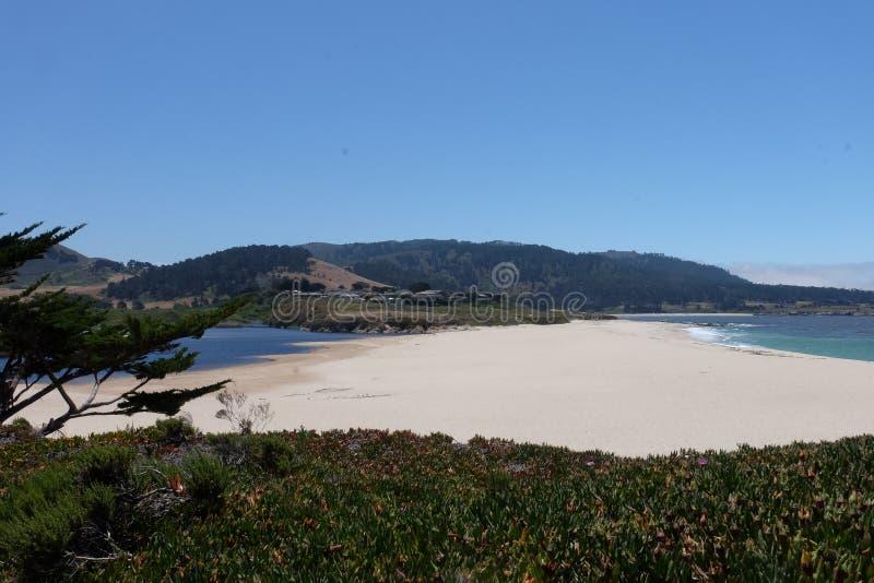 Carmel Beach California Förenta staterna arkivfoto