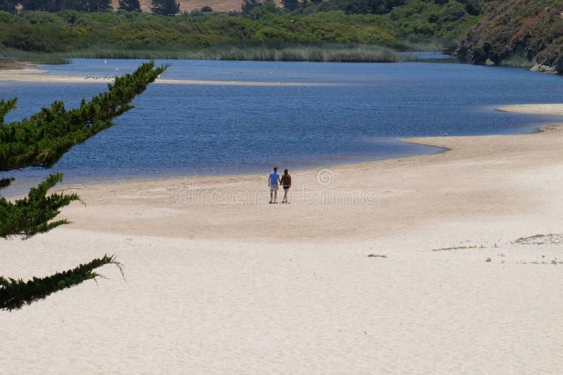 Carmel Beach California Förenta staterna royaltyfri foto