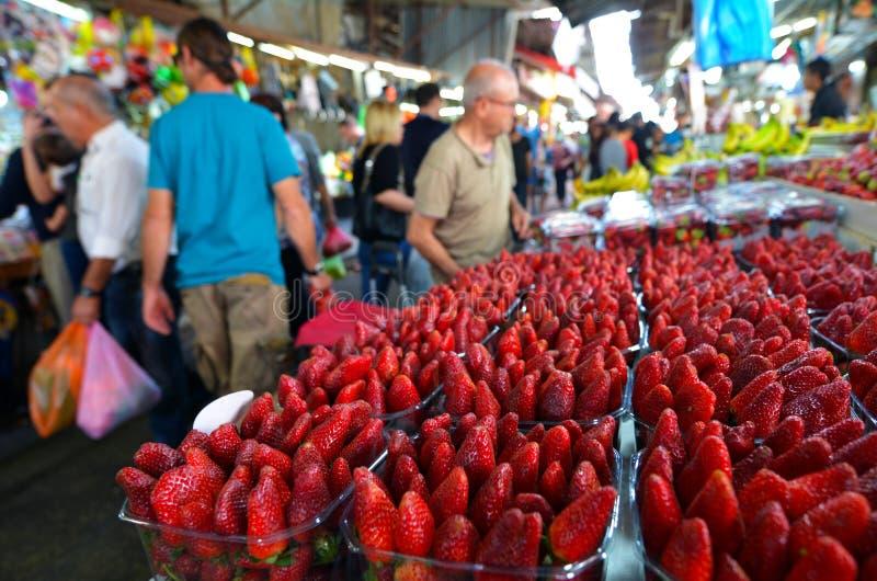 Carmel Market Shuk HaCarmel em Tel Aviv, Israel fotos de stock royalty free