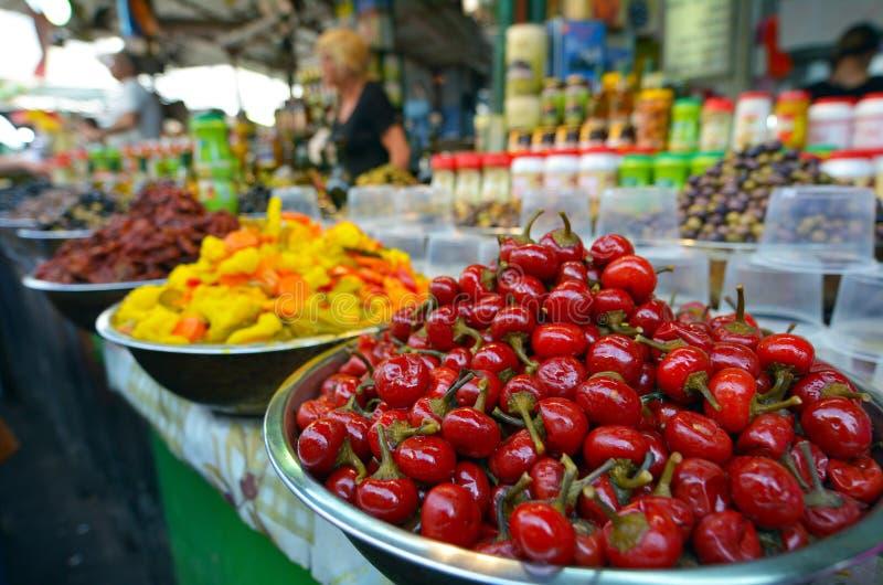 Carmel Market Shuk HaCarmel in Tel Aviv, Israel lizenzfreies stockbild