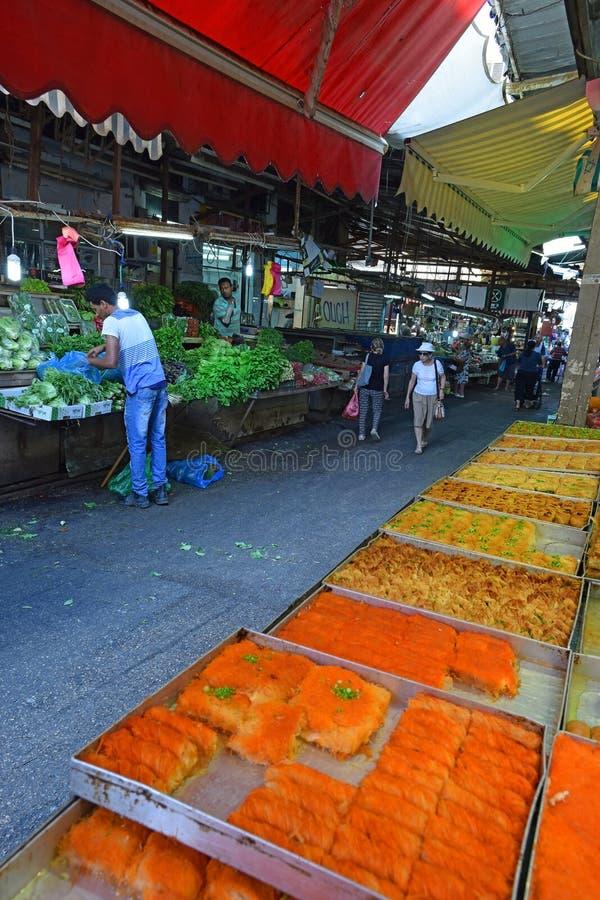 Carmel market, Tel Aviv, Israel stock photography