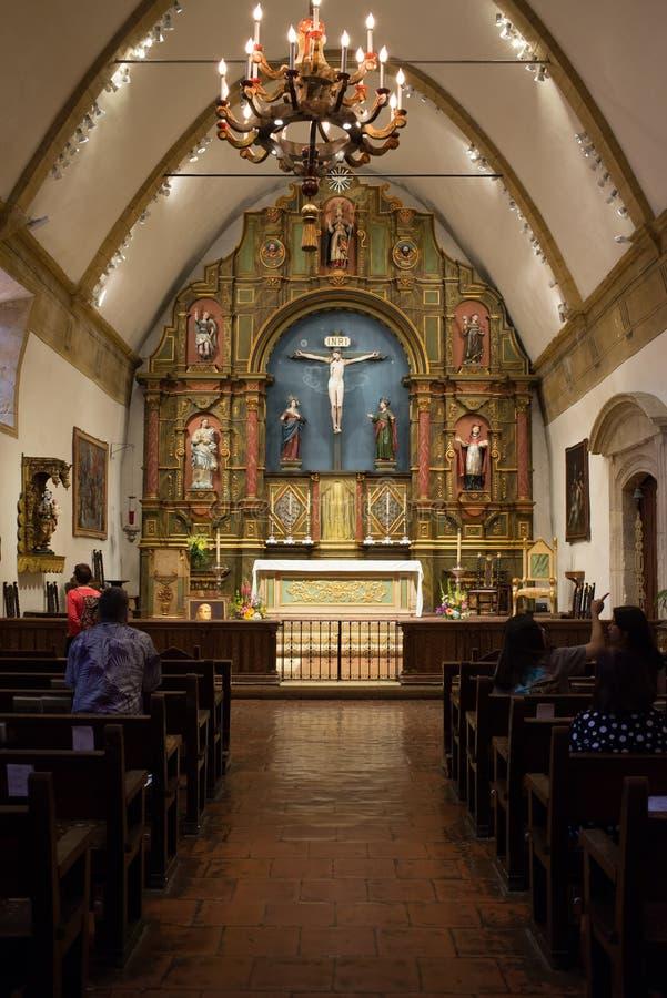 Carmel Mission Basilica, Carmel-par-le-mer photographie stock