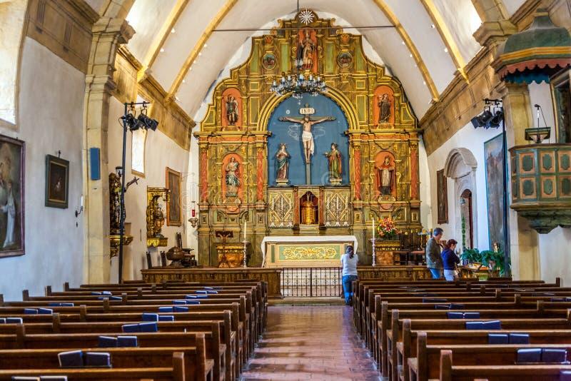 Carmel Mission San Carlos Borromeo royaltyfri fotografi