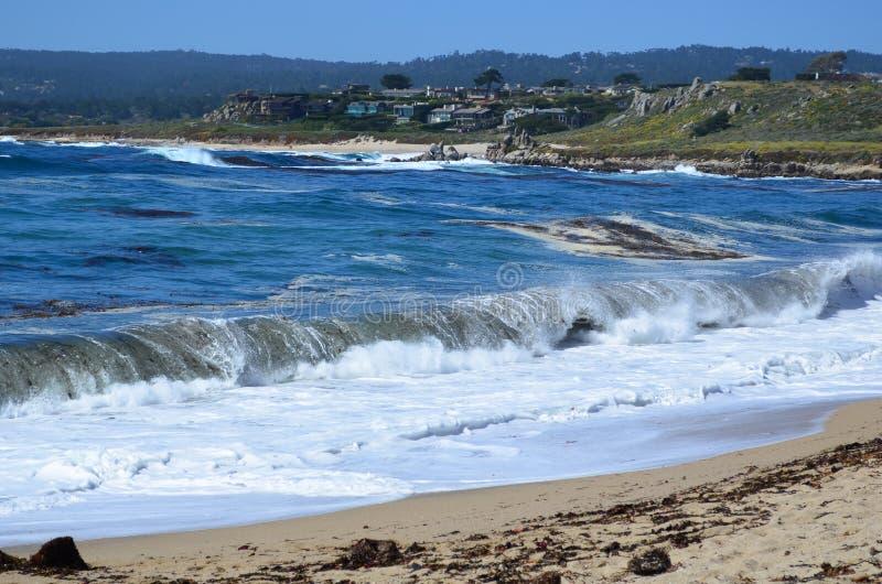 Carmel River Beach, la Californie, Etats-Unis photos libres de droits