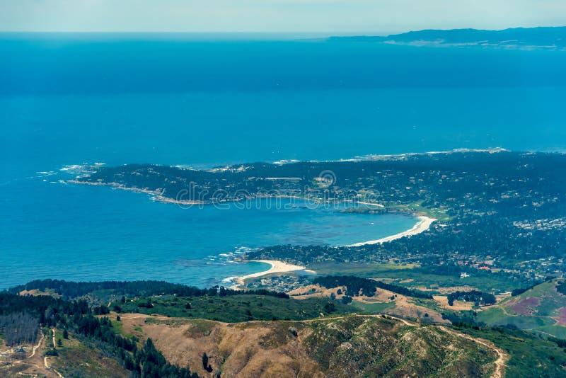 Carmel By The Sea Aerial foto royaltyfri fotografi