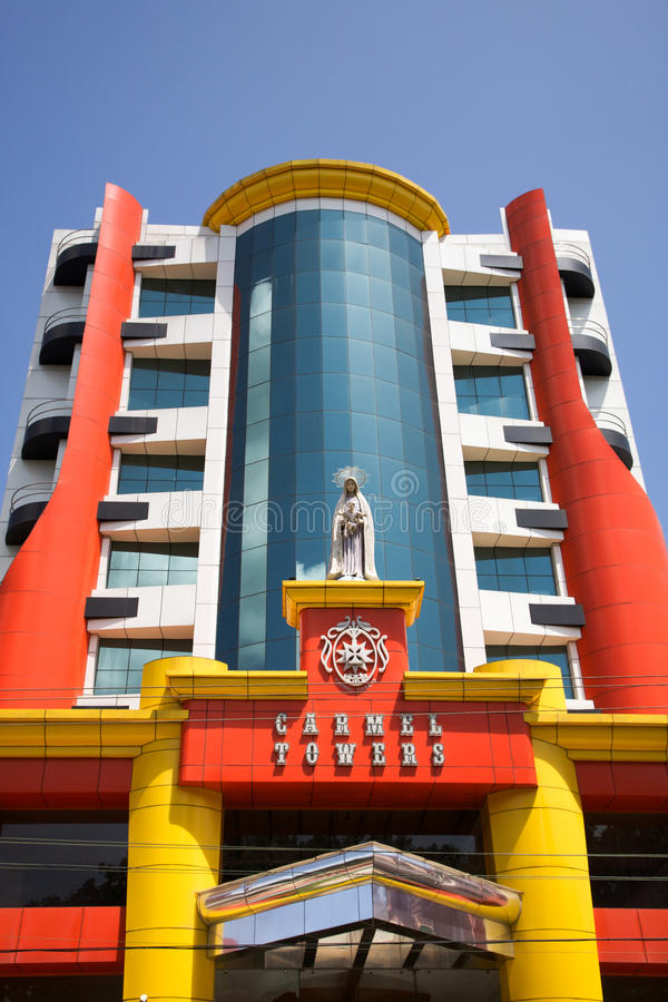 Carmel Towers, Modern Architecture In Trivandrum, India. Editorial Stock Image
