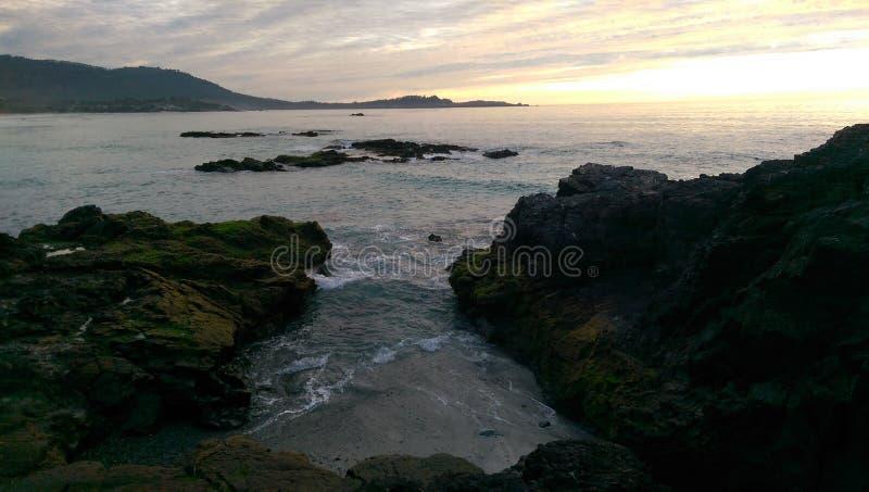 Carmel-Vid--hav arkivbild