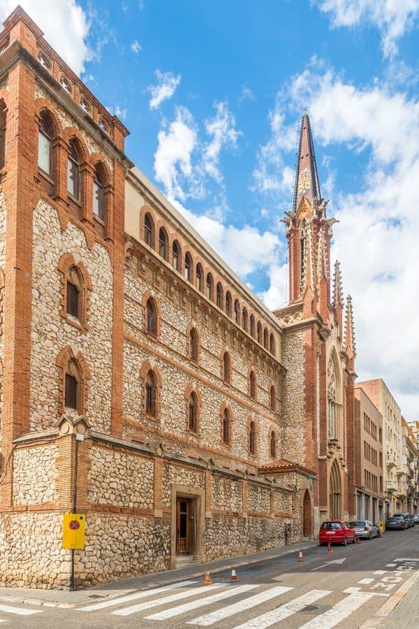 Carmelitas church in the streets of Tarragona in Spain royalty free stock photos