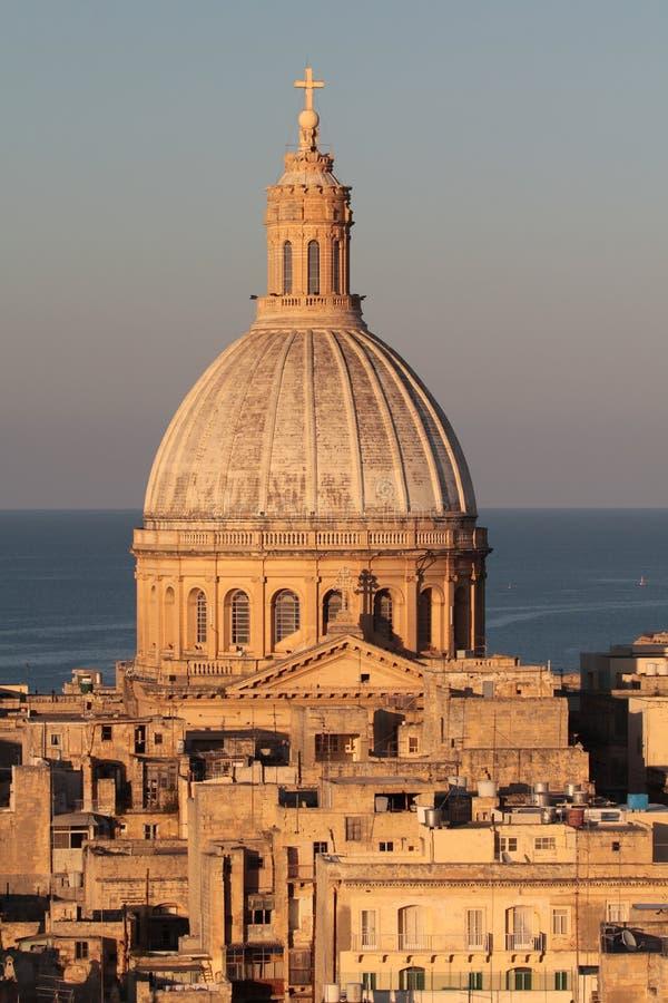 Carmelite Church in Valletta, Malta stock image