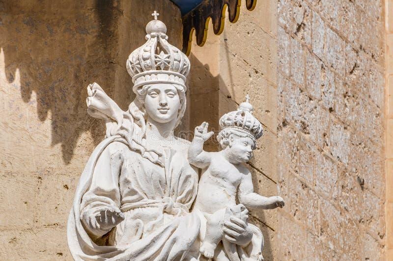 Carmelite kyrka i Mdina, Malta fotografering för bildbyråer