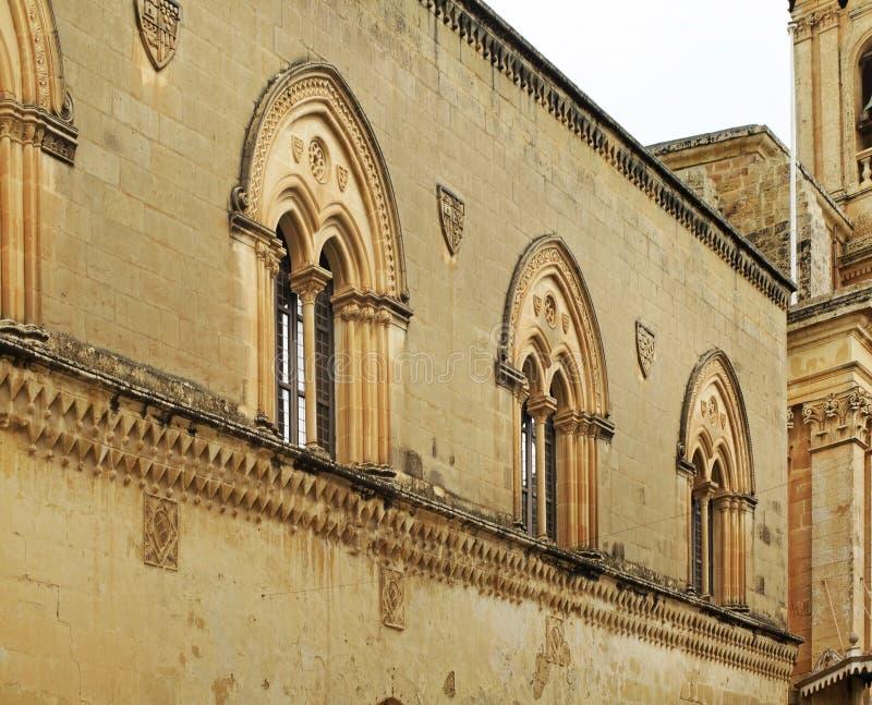 Carmelite kyrka i Mdina Malta royaltyfri foto