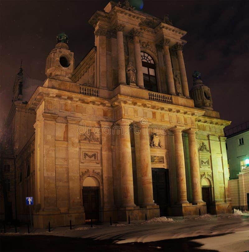 Carmelite kyrka, Warszawa, Polen royaltyfri foto