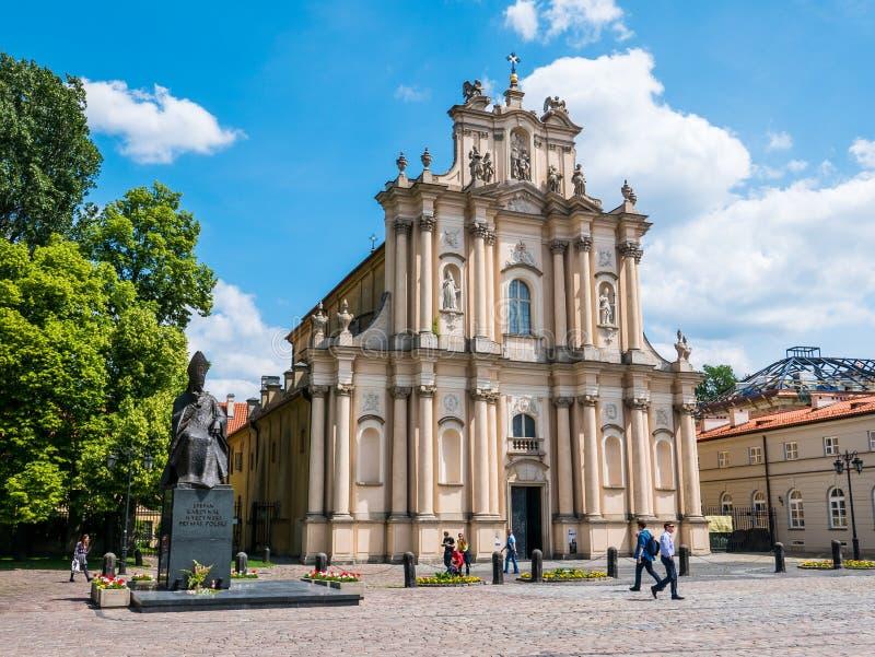 Carmelites kościół, Warszawa, Polska obrazy stock