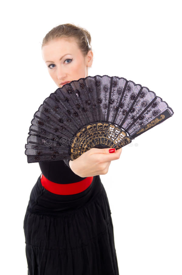 Download Carmen Beautiful Girl With A Fan Royalty Free Stock Photo - Image: 27689385