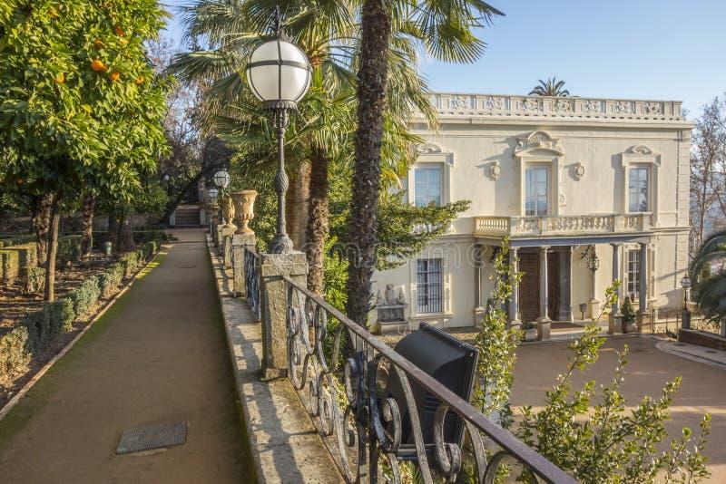Carmen de los Martires, près de vers Alhambra, jardin public grenade images libres de droits