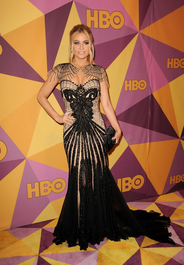 Carmen Electra. At the HBO`s 2018 Official Golden Globe Awards After Party held at the Circa 55 Restaurant in Beverly Hills, USA on January 7, 2018 stock photos