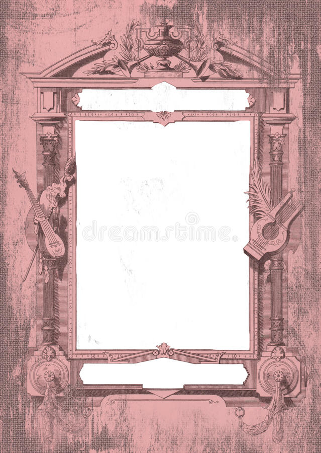 Carmen Insignia Frame royalty-vrije stock afbeeldingen