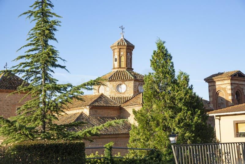Carmen klasztor w Gea De Albarracin wiosce obrazy royalty free