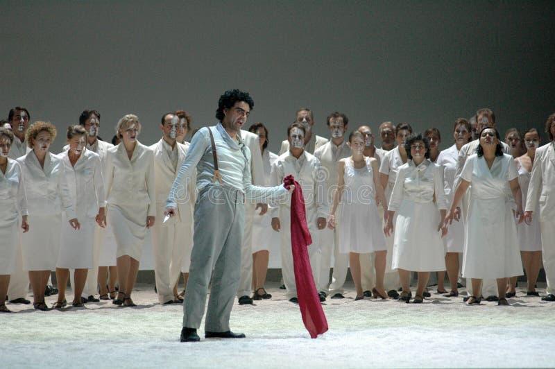 Carmen. NOVEMBER 29, 2004 - BERLIN: Rolando Villazon and others at a rehearsal of the opera production Carmen, Staatsoper Unter den Linden, Berlin royalty free stock photo