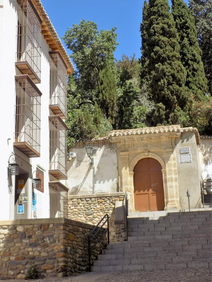 Carmenes van albayzin-Granada - Andalusia stock afbeelding