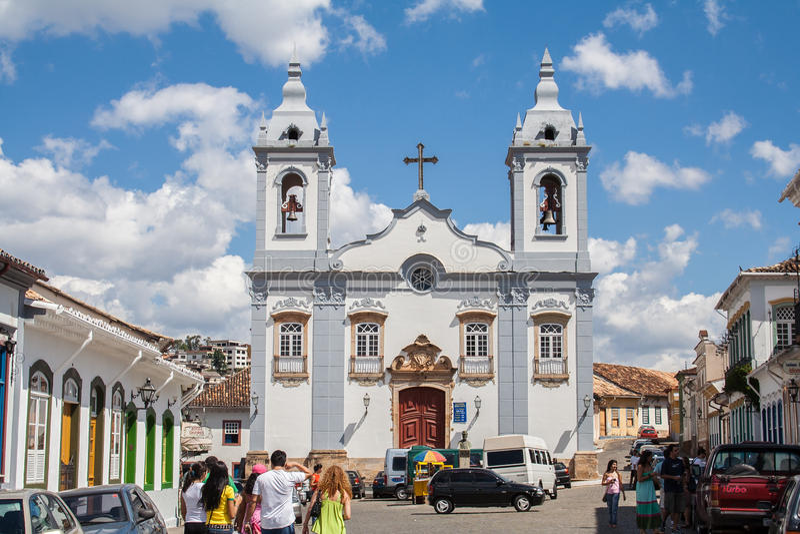 Carmo Church Sao Joao del Rey royalty-vrije stock afbeelding
