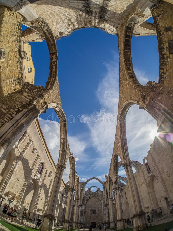 Carmo Convent, Lisbon royalty free stock photo