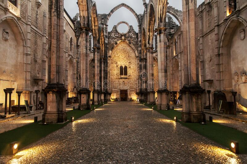 Carmo Convent royalty free stock image