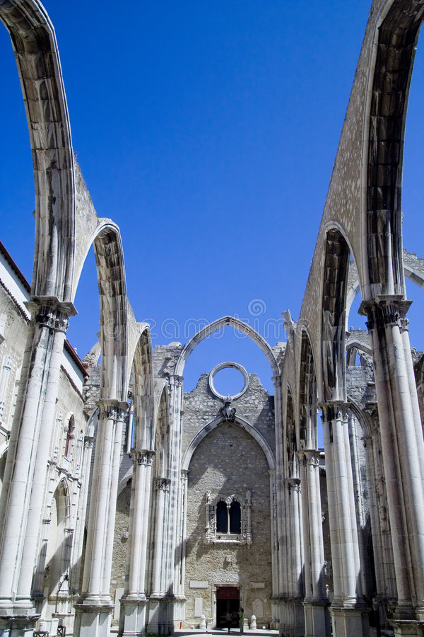 Carmo Convent in Lissabon stock fotografie