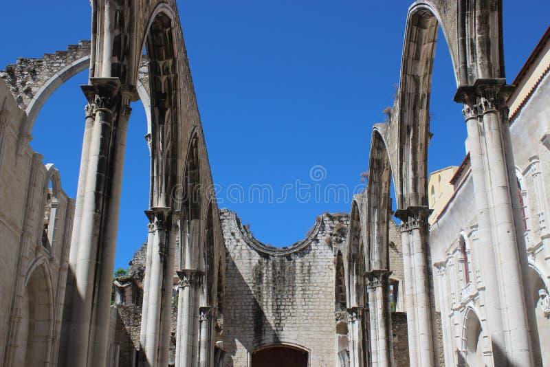 Carmo kloster, Lissabon arkivfoton