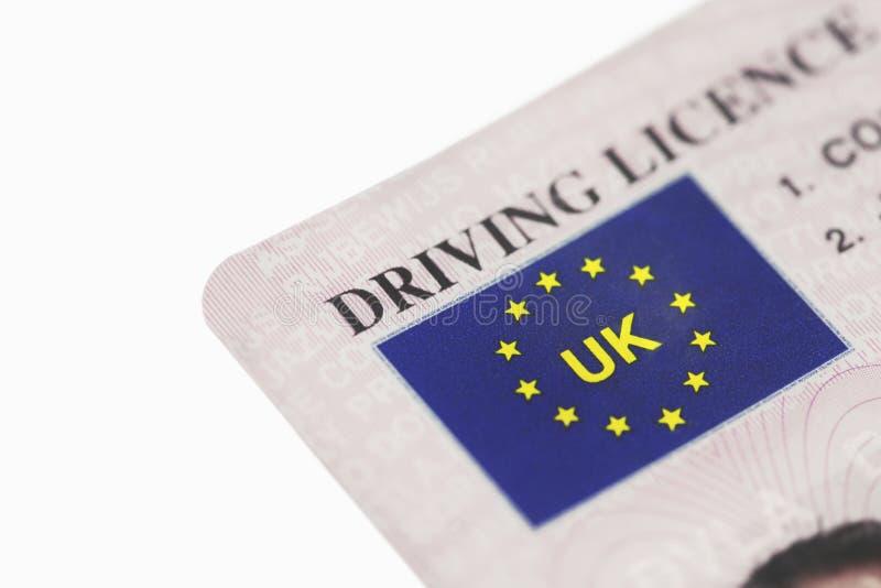 Carné de conducir BRITÁNICO imagen de archivo libre de regalías