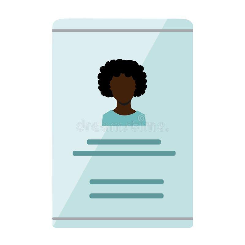 Carné de identidad foto de archivo libre de regalías