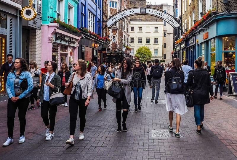 Carnaby ulica w Londyn (hdr) zdjęcie stock