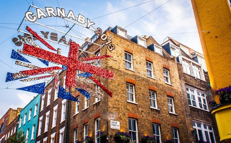 Carnabystraat Londen 2013 stock foto
