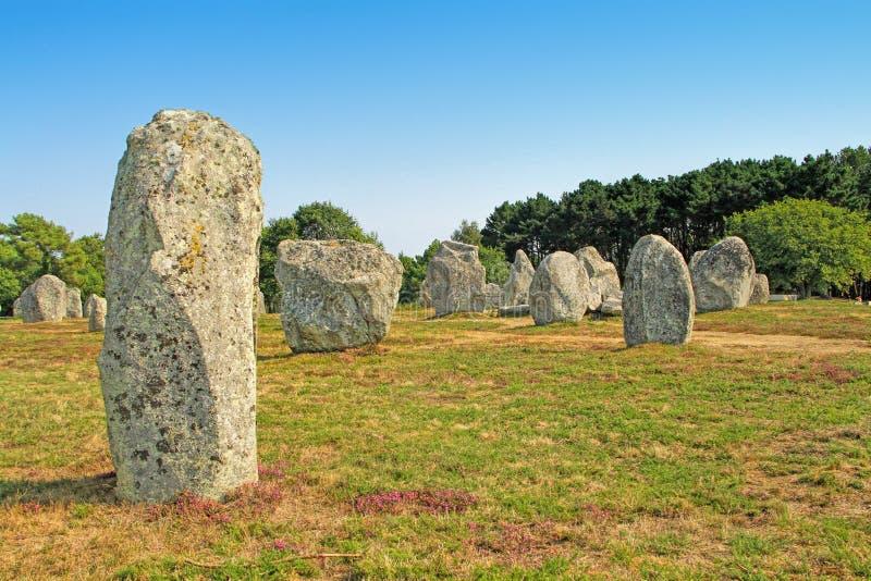 Carnac megalityczny miejsce w Brittany, Francja zdjęcia stock