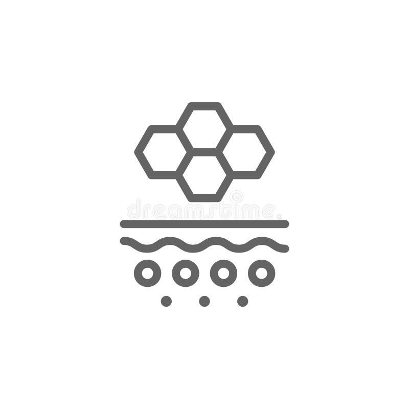 Carnagione, icona della pelle r Linea sottile icona per progettazione del sito Web e sviluppo, sviluppo di app Icona di premio royalty illustrazione gratis