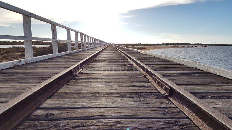 Carnarvon de Austrália da ponte fotografia de stock