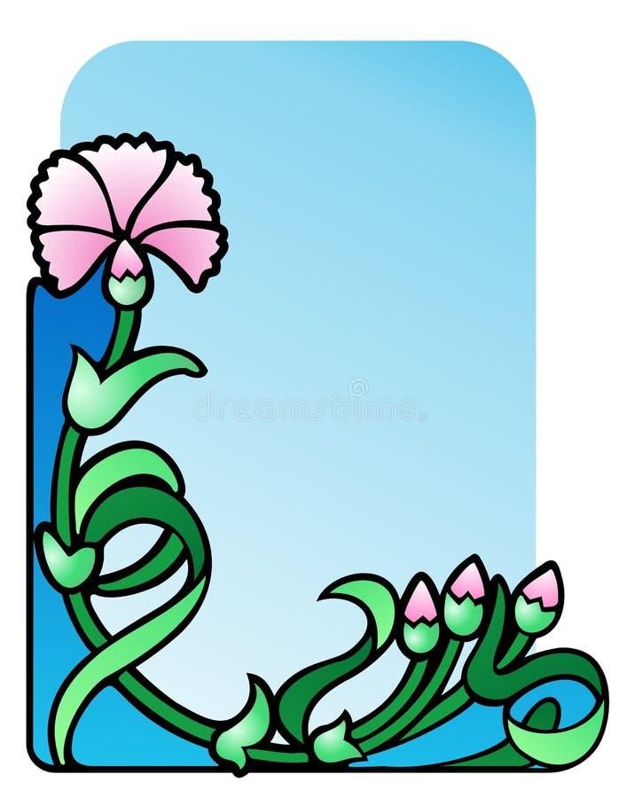 Carnation corner ornament stock illustration