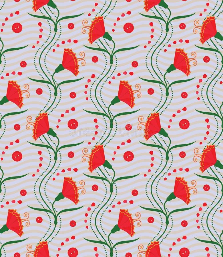Carnations (seamless pattern)