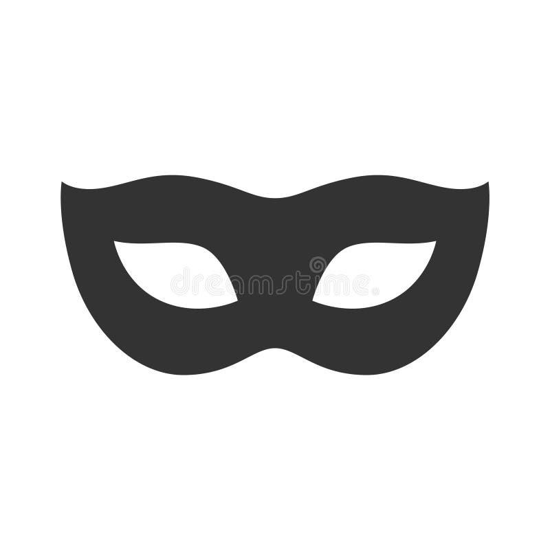 Carnaval黑色在白色背景隔绝的面具背景 现代的概念 向量例证
